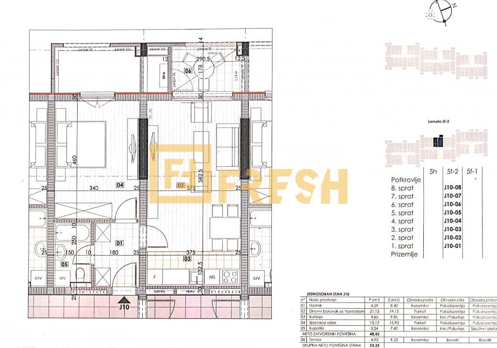 Jednosoban stan, 53.33m2, Master Kvart, Prodaja - 4