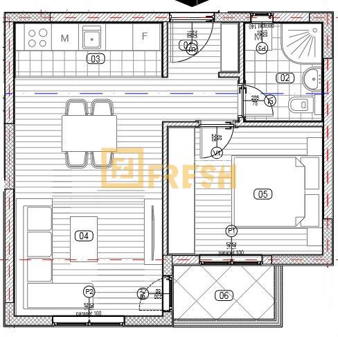 Jednosoban stan, 40m2, Zabjelo, Prodaja - 2