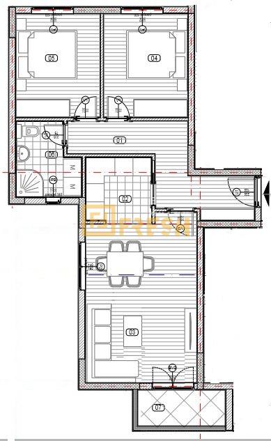 Dvosoban stan, 61m2, Zabjelo, Prodaja - 2