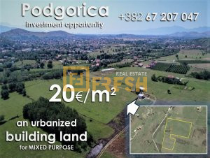 33.078m2urbanizovano građevinsko zemljište, Donja Gorica- PRODATO - 1