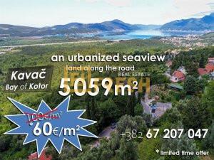 Ispod cijene! Urbanizovano zemljište 5059m2, Kavač, Kotor - 1