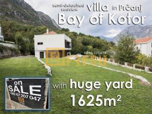 Dvojna vila sa velikim kaskadnim dvorištem, Prčanj, Kotor - 1