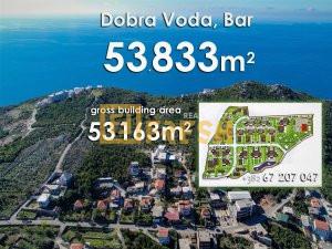 Urbanizovano građevinsko zemljište 53833m2, Dobra Voda, Bar - 1