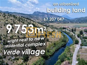 Urbanizovano građevinsko zemljište, 9753m2 blizu ''Verde'' kompleksa - 1