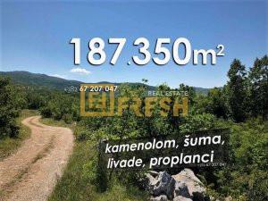 187.350m2, šume, kamenolom, livade, proplanci - 1