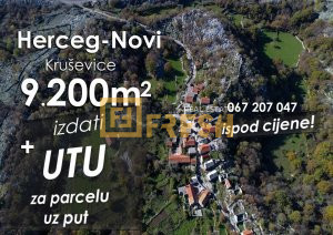9200m2 sa UTU, Kruševice, Herceg-Novi - 1