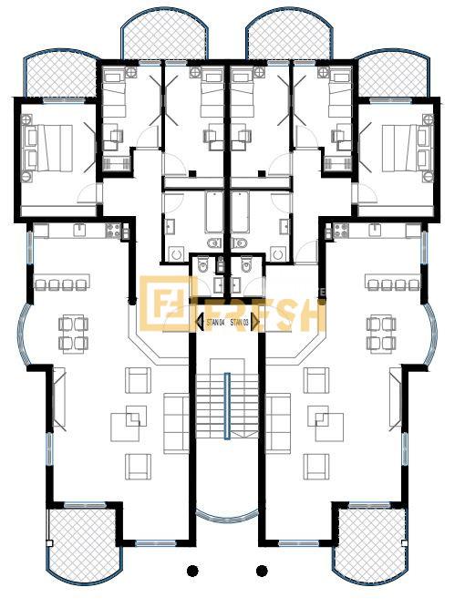 Lux trosoban stan, 128m2, Vezirov most, Prodaja - 19