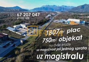 Poslovni prostor uz magistralu Tivat – Budva - 1