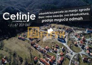 Urbanizovani plac za manju zgradu, Cetinje - 1