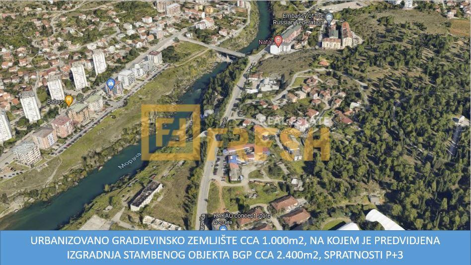 Urbanizovano gradjevinsko zemljište cca 1.000m2, Centar, Prodaja 1