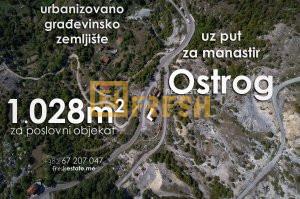 Urbanizovani plac 1028m2 uz put za manastir Ostrog - 1